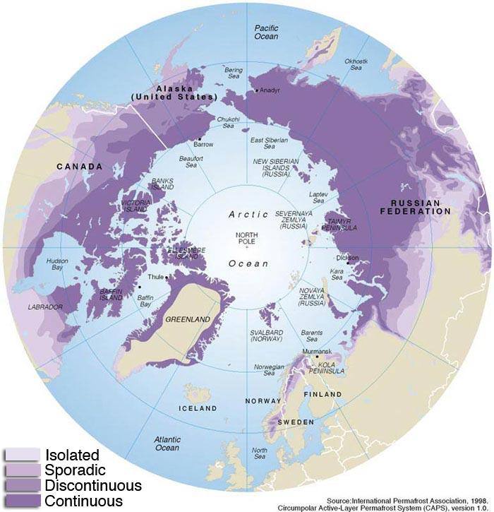 permafrost regions
